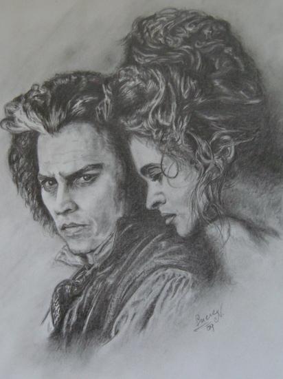 Helena Bonham Carter, Johnny Depp by luca